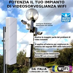 TELECAMERA RIPETITORE potenziatore WiFi da esterno per sorveglianza IP CAM Wi-Fi