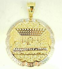 10k two-tone gold last supper pendant/charm 1.8 inches diameter 8.70 grams