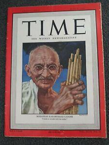 Mahatma Gandhi - India - 1947 TIME Magazine - Complete Issue