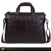 Men's Genuine Leather Briefcase Handbag Business Laptop Shoulder Messenger soft