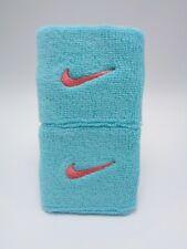 "Nike Swoosh Wristbands Light Aqua/Sunblush 3"" Men's Women's"