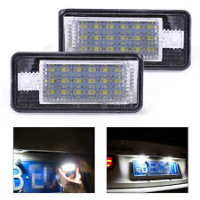 New 2x 18 LED License Plate Lights Lamp 8E0807430A for Audi A3 A4 A5 A6 A8 Q7