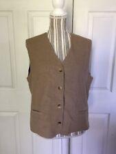 Lands End Women's Elegant Size M Camel Bottom Vest A-5