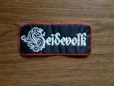 HEIDEVOLK,SEW ON WHITE WITH RED EDGE EMBROIDERED PATCH