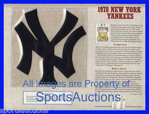 1978 NEW YORK YANKEES Willabee & Ward COOPERSTOWN COLLECTION BASEBALL TEAM PATCH