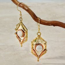 New Tara Mesa Moonstone Embellished Hexagonal Earrings *STUNNING* [MSRP~$225]
