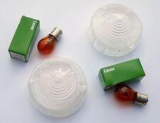 Lucas L691 Verre Transparent Set de Clignotants pour Cobra, Morgan, Imp, Triumph
