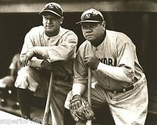 New York Yankees Baseball Lou Gehrig & Babe Ruth Best Image of Gehrig & Ruth
