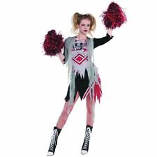 Womens Cheerless Zombie Halloween Costume Fancy Dress Outfit Adult Size 10-12