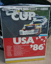 PORSCHE FACTORY POSTER 1986 PORSCHE CUP USA 962 PRICE COBB DYSON RACING 30 X 40