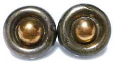 WILLIAM SPRATLING TAXCO MEXICO STERLING SILVER GOLD FILLED RANCH EARRINGS