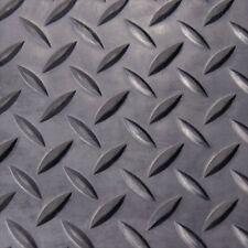 Rubber-Cal Diamond Plate Rubber Flooring Rolls, 1/8-Inch x 4 x 8-Feet, Black