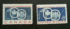 USA Canada Joint Issue ST Lawrence Seaway 1959 (stamp pair) MNH
