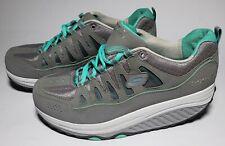Skechers Women's Size 8.5 Gray & Green Shape Ups 2.0 Comfort Stride Shoes