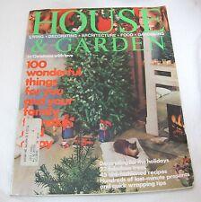 December 1975 House & Garden Magazine Decorating Architecture Gardening More
