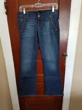 LUCKY BRAND Women's 2/26 Blue Cotton Stretch Lil Maggie Button Fly Jeans