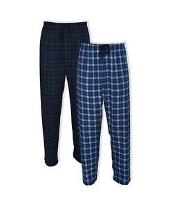 Hanes Platinum Hanes Men's Big and Tall Flannel Sleep Pant 2 Pack Blue Plaid 2XL