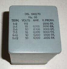 Trafo Transformator  60 Hz / 115 V --> 5 x 10 Volt je 100 mA