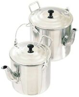 Teapot Billy Camp Kettle Heavy Duty Aluminium 4 pint 1.8lt 6 pint 2.8lt Camping