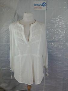 WBR58 Mint Velvet Ivory Lace Insert Top Size 16