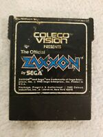 Zaxxon (Colecovision, 1982) Coleco Sega Cart Only UNTESTED WORN LABEL FREE S/H