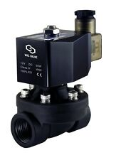 Plastic Electric Air Water Zero Differential Solenoid Valve 3/4 Inch