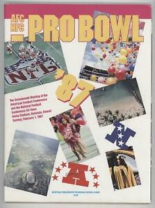 1970-Now AFC-NFC Pro Bowl Game Programs 1987 #17