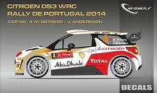 DECALS 1/43 CITROËN DS3 WRC #4 - OSTBERG - RALLYE PORTUGAL 2014 - MF-ZONE D43307