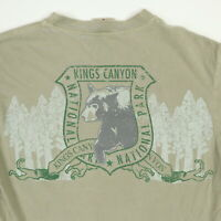 Kings Canyon National Park Comfort Colors T-Shirt SMALL Soft Faded Brown Bear