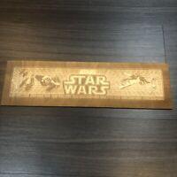 """Custom Star Wars Arcade Marquee Laser Cut  Wood 19""""x5.5"""""""