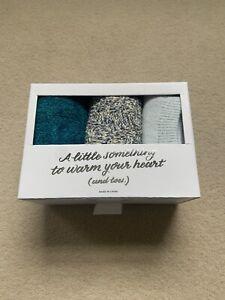 LOFT Turqouise Teal Blue Socks Gift Box Set One Size