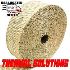 "TURBO MANIFOLD HEADER PIPE HEAT INSULATION TAPE EXHAUST WRAP 2"" X 100 FOOT TAN"