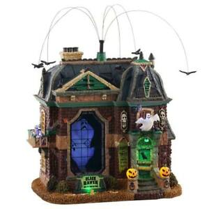 Lemax Spooky Town Illuminated & Animated BLACK RAVEN Manor Haunted House