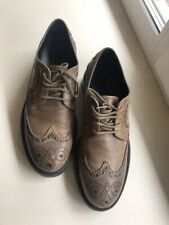 Tods Boots Shoes Brogues Size 6 Grey Leather