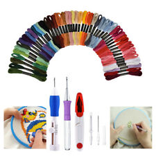 DIY Embroidery Pen Stitching Punch Needle Kits with Scissor +Cross Stitch Thread