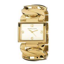 Michael Kors Uhr MK3133 Damen Edelstahl Gold Armbanduhr Rechteck Quarz NEU