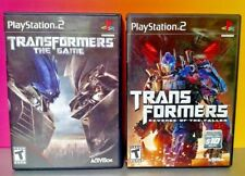 Transformers The Game + Revenge Fallen - PS2 Playstation 2 COMPLETE Tested PS2