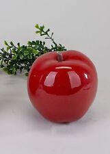 Moderne Skulptur Apfel aus Keramik Klassik rot Durchmesser 13 cm