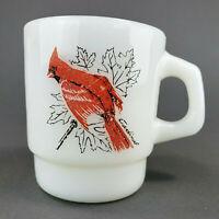 Anchor Hocking Fire-King Coffee Mug Cardinal and Baltimore Oriole