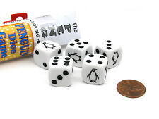 Penguin Dice Game with 5 Dice Travel Tube and Gaming Instructions