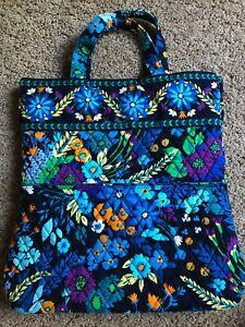 Vera Bradley MIDNIGHT BLUES  Quilted Tote Purse Handbag VGUC/See *