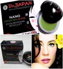 NEW DR. JAPAN NANO GREEN TEA ACTIVE WHITENING CREAM  FREE SOAP REDUCE DARK SPOT