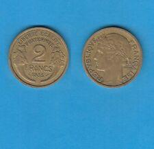 gertbrolen 2 Francs Type Morlon Cupro-Aluminium 1935  Année rare Exemplaire N°9