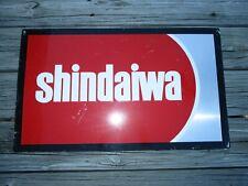 Vintage SHINDAIWA Equipment DEALERSHIP BARN GARAGE Metal ADVERTISING SIGN 25x15
