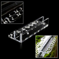 Acrylic Water Plant Tool Maintenance Side Holder Aquarium Tank Tweezer Holder ^S