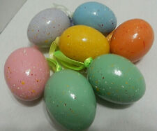 Easter Egg Ornaments Tree Decorations Qty Of 7 Speckled Spring Decorations