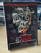 """S-VHS aka V/H/S/ 2"" 2-DISC LIMITED COLLECTOR'S EDITION MEDIABOOK BLU-RAY+DVD"