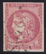 n°49 Cérès Bordeaux 80c rose oblitéré GC 2408 1er choix - Signé & Certificat