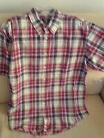 NWT ARROW Men's Button Down Shirt Plaid Casual Short Sleeves Size Large