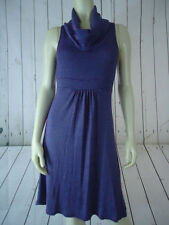 MICHAEL STARS Dress One Size (S-M) Purple Heather Pullover Knit Sleeveless Cowl